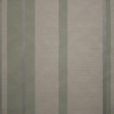 Sale Special Designer Hoppen Stripe Taupe / Moss Wallpaper (Was £25)