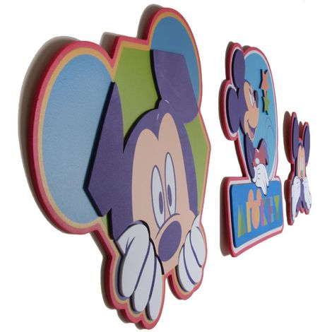 Sale Special Disney Mickey Mouse Kids Foam Wall Stickers 3 Piece Set (Was £13)