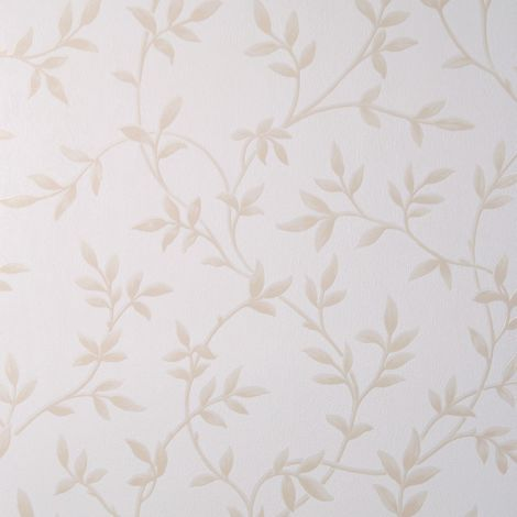 Sale Special Sale Special Superfresco Leaf Motif Ivory Wallpaper (Was £14)