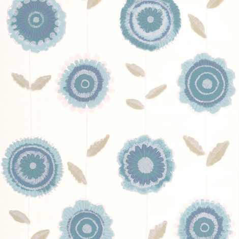 Sale Special Superfresco Radiance Teal Floral Wallpaper (Was £16)
