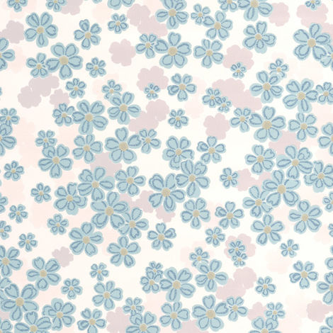 Sale Special Superfresco Woodstock Small Scale Floral Teal Wallpaper (Was £16)