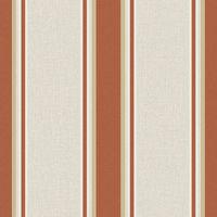 Sale Superfresco Orla Stripe Burnt Orange/Gold Metallic Wallpaper (Was £16)