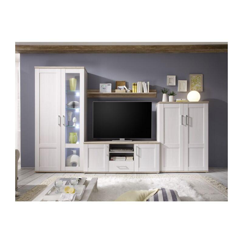 Möbel-direkt - %SALE% Wohnwand Romance Wohnzimmermöbel mit Beleuchtung sofort lieferbar - FORTE MÖBEL