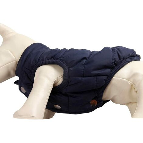 SalemHms Veste chaude pour chien doublée polaire 2 couches pour chiot hiver froid, manteau doux coupe-vent pour petit chien w