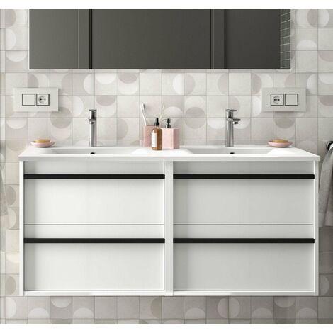 SALGAR 84955 ATTILA Mueble+Lavabo 120 Blanco Brillo