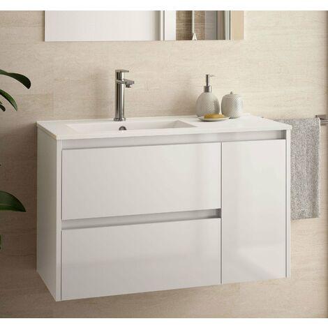 SALGAR 85054 NOJA 855 Mueble+Lavabo Blanco Brillo