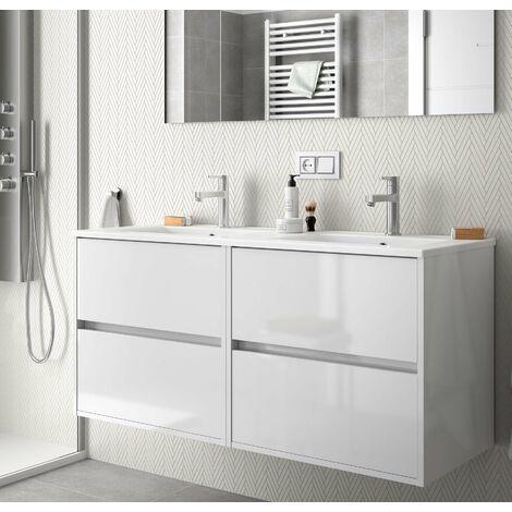 SALGAR 85089 NOJA Mueble+Lavabo 120 Blanco Brillo
