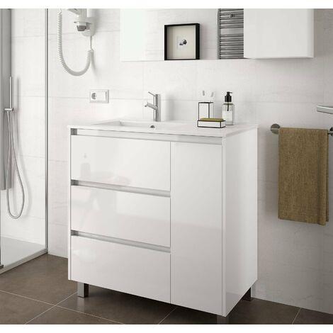 SALGAR 85118 ARENYS 855 Mueble+Lavabo Blanco Brillo