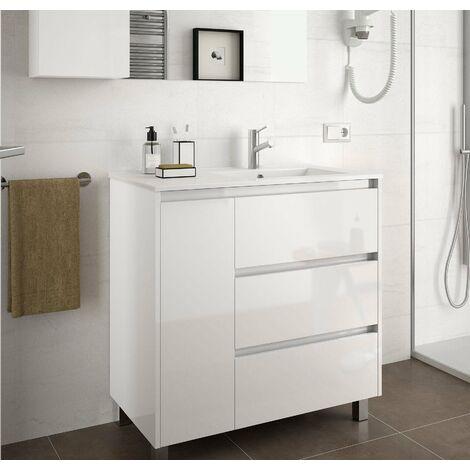 SALGAR 85127 ARENYS 855 Mueble+Lavabo Blanco Brillo