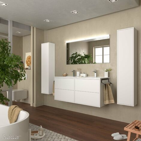 SALGAR 87817 OPTIMUS Conjunto Mueble Completo 120 Blanco Mate