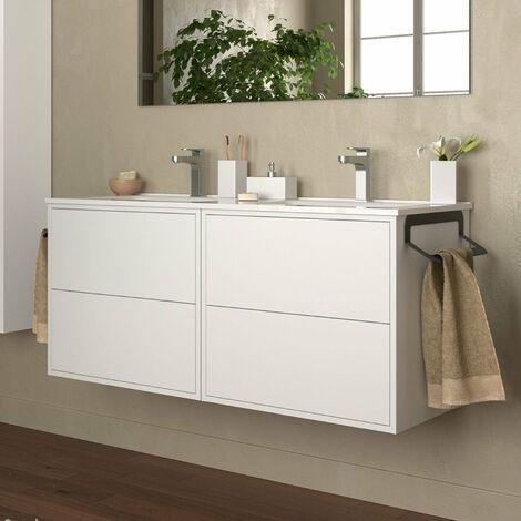 SALGAR 87821 OPTIMUS Mueble+Lavabo 120 Blanco Mate