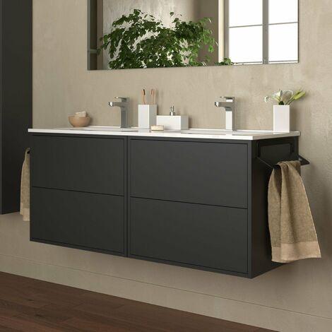 SALGAR 87829 OPTIMUS Mueble+Lavabo 120 Negro Mate