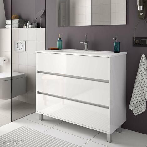 SALGAR ARENYS Mueble+Lavabo Blanco Brillo