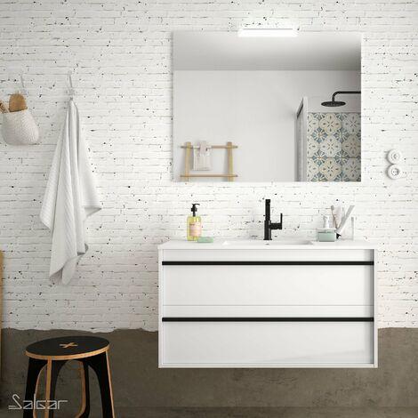 SALGAR ATTILA Conjunto Mueble Completo Blanco Brillo