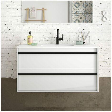 SALGAR ATTILA Mueble+Lavabo Blanco Brillo