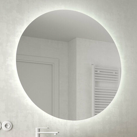 "main image of ""SALGAR MOON Espejo Redondo Retroiluminado Luz LED - Medida: 80 CMS"""