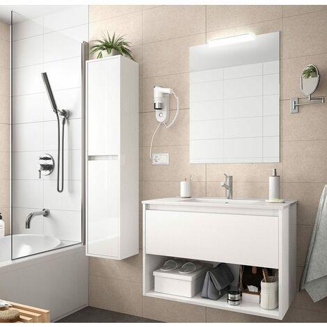 SALGAR NOJA Conjunto Mueble 1 Cajón Completo Blanco Brillo