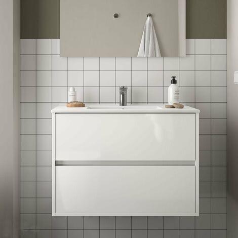 SALGAR NOJA Mueble+Lavabo Blanco Brillo