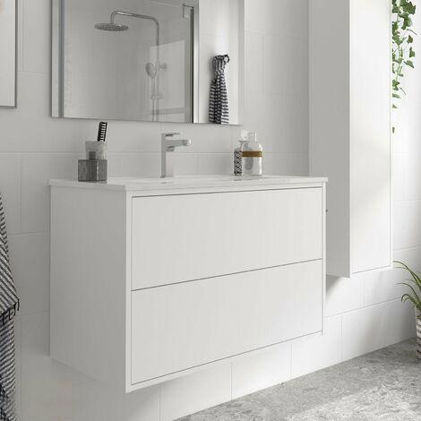 SALGAR OPTIMUS Mueble+Lavabo Blanco Mate
