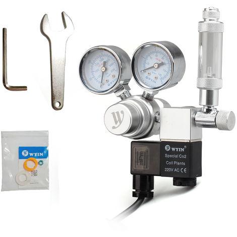 Salida 12V Tension acuario CO2 Regulador de presion de CO2 Regulador, 2 #