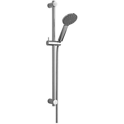Saliscendi doccia Paffoni ZSAL195 Giada con doccia tonda e asta in metallo