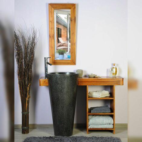 Salle bain teck 120 cleopatra noir