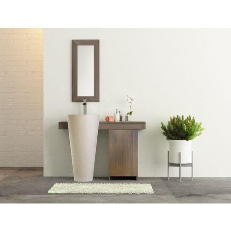 Salle bain teck grisé cleopatra 120 porte blanc