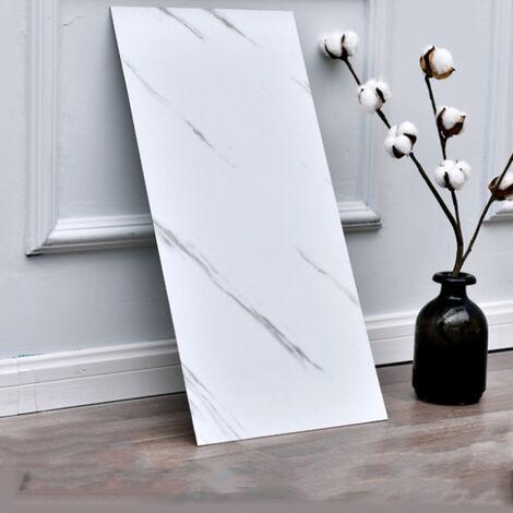 Salle de bain cuisine PVC autocollant de sol auto-adhésif salle de bain carrelage papier peint étanche salon marbre fond papier peint salle de bain carrelage étanche papier peint (81014-1 Jazz blanc (10 * pcs)