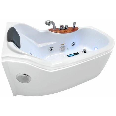 Salle de bain de haute qualité avec la version hydromassage kerra bella lux gauche