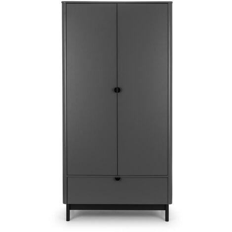Sally 2 Door Wardrobe STORM GREY/BLACK