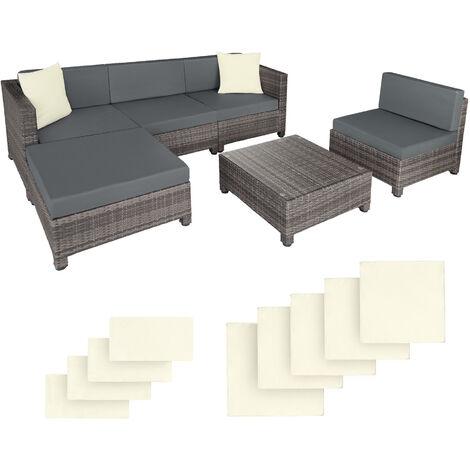Salon bas de jardin AMY 5 places avec 2 sets de housses, variante 2 - mobilier de jardin, meuble de jardin, ensemble table et chaises de jardin