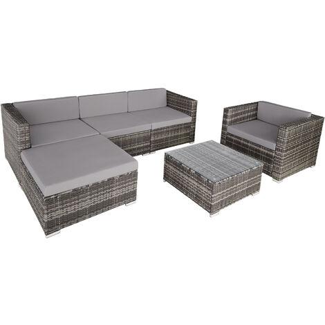 Salon bas de jardin MILANO 5 places - mobilier de jardin, meuble de jardin, ensemble table et chaises de jardin