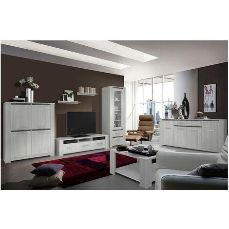 Salon complet JORK gris cérusé - Gris