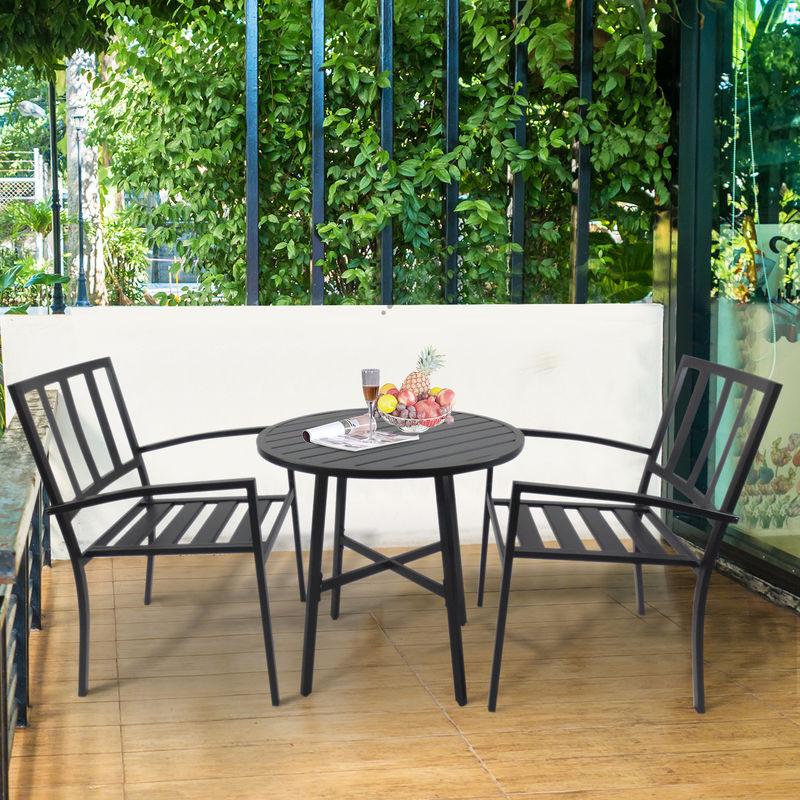 Salon de jardin 2 pers. 3 pièces ensemble bistrot style contemporain ...