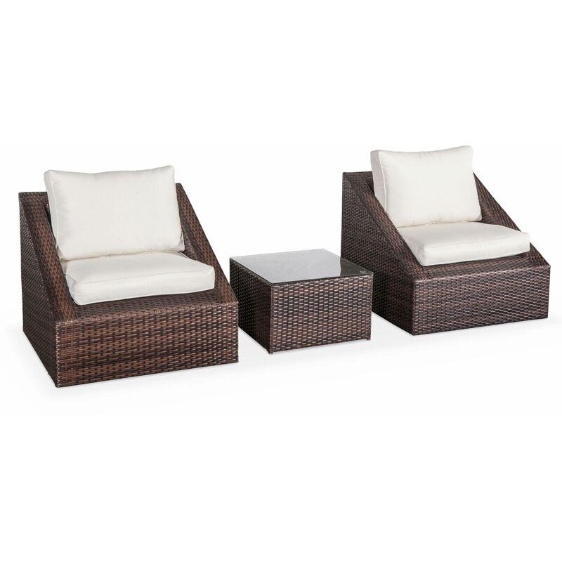 salon de jardin 2 places triangolo r sine tress e. Black Bedroom Furniture Sets. Home Design Ideas