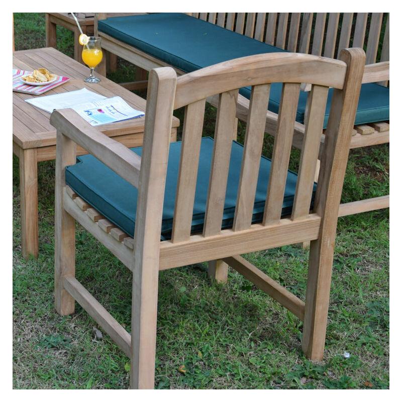 Salon de jardin 4 à 5 places et table basse en teck Ecograde Darlington