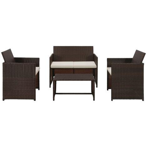 4 chaises de jardin balcon jardin terrasse 5tlg salon salle table en verre 90 cm
