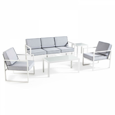 Salon de jardin 5 places en aluminium