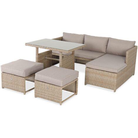 Salon de jardin 6 places - Reggiano - Naturel / beige, table de ...