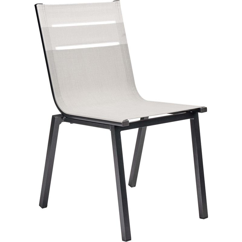 Chaises Table Jardin Alu Moderne Anthracite 8 Salon De ...
