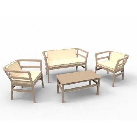Salon de jardin bas RESOL Click Clack-Blanc