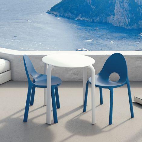Salon de jardin Drop blanc et bleu INFINITI - Blanc et Bleu - Extérieur
