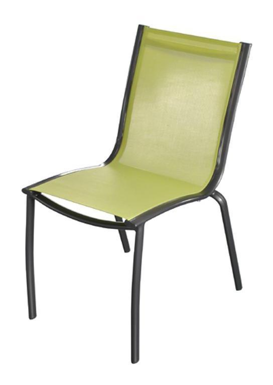 Salon de jardin en Aluminium 6 places Rouille Lime LINEA - Proloisirs