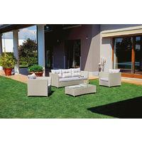 Salon De Jardin Aluminium Gioura Blanc Et Gris - The Best ...