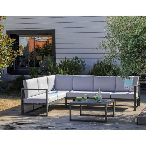 Salon de jardin en aluminum avec méridienne Manhattan