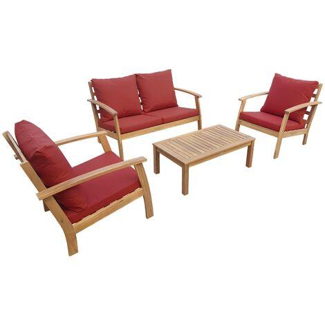 Salon de jardin en bois 4 places Design - Ushuaia