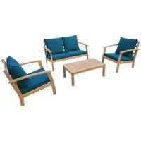 Salon de jardin bleu à prix mini