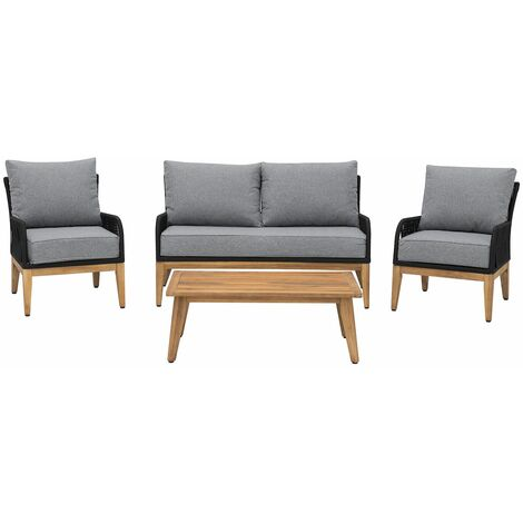 Salon de jardin en bois acacia gris MERANO - 121516