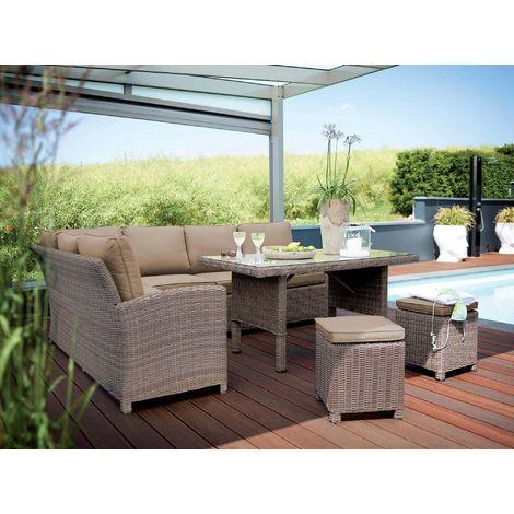 Salon de jardin en résine tressée Marbella - 0311130-1500