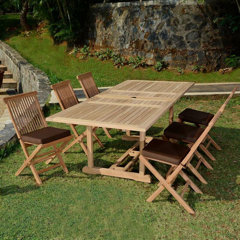 En Teck 4 Extensible Ecograde De À M6 1 Java 2 Jardin CaraibesTable Salon Chaises 8 F1J3uK5Tcl